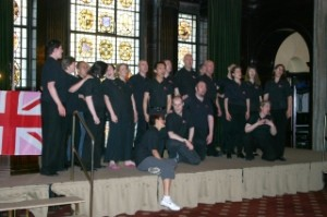 The Pink Singers performing at the launch of the Pink News