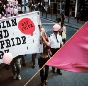 Marching at Pride 1983