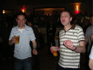 Two men dancing the shuffle