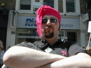 A Pink Singer with a turban