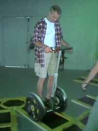 Simon on a segway