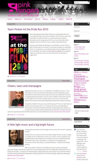 Website refresh 2010 overview