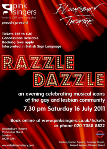 7.30 pm 16 July 2011 Bloomsbury Theatre