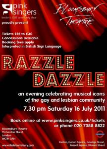7.30 pm 16 July 2011 Bloomsbury Theatre