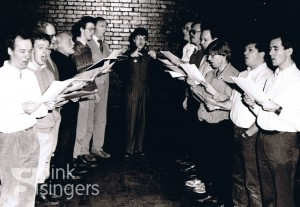 Pinkies in rehearsal in 1987