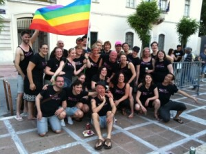 The Pinkies celebrating Pride in Athens 2011