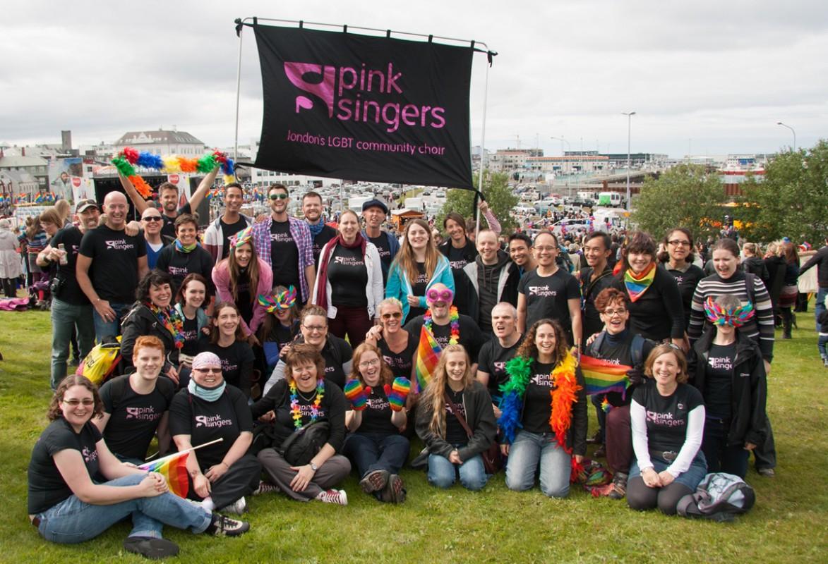 Pink Singers on Arnarhóll