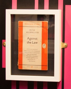 Photo of the book in a showcase