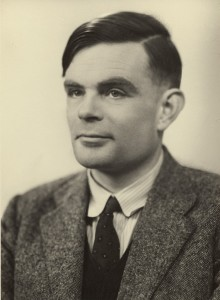 Photographic portrait of Alan Turing