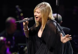 U.S. singer and actress Barbra Streisand performs in Paris