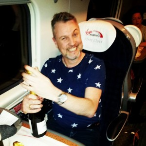 Travelling up to Manchester in style!