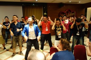 Dancing at the welcome party (Photo: Hsien Chew)