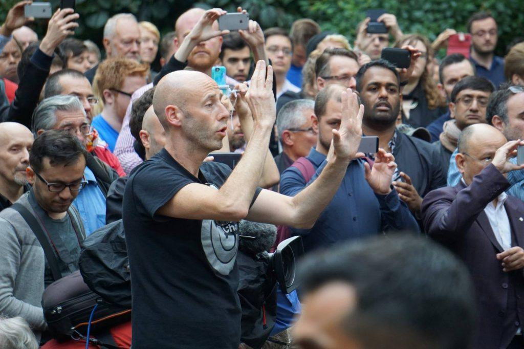 Orlando vigil in Soho