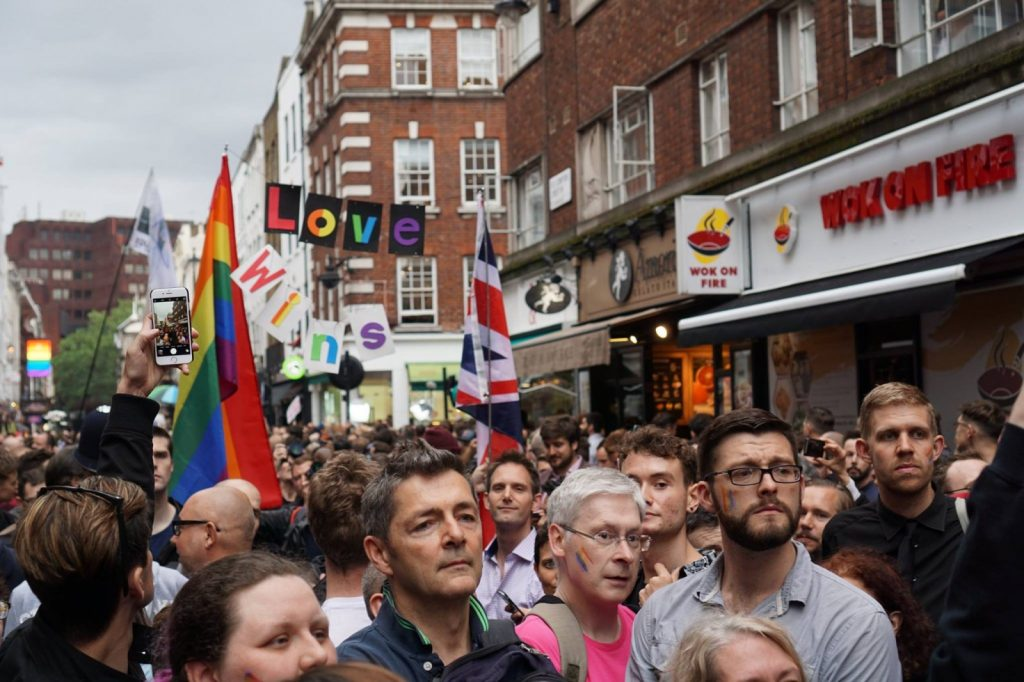 Orlando vigil in Soho